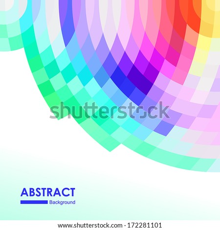 Abstract geometric colorful background for design - stock vector