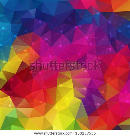 Abstract geometric colorful background. Molecule And Communication Background. Vector Illustration, Graphic Design Useful For Your Design - stock vector
