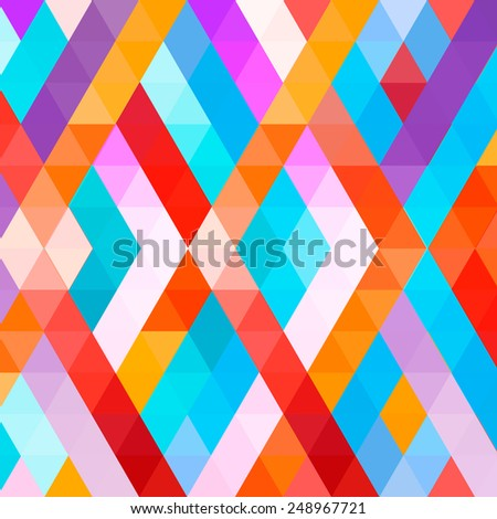 Abstract geometric colorful background. Triangular and Communication Background. Vector Illustration, Graphic Design Useful For Your Design - stock vector