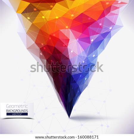 Abstract geometric colorful composition. Tornado colors.Molecule And Communication Background. Vector Illustration, Graphic Design Useful For Your Design - stock vector