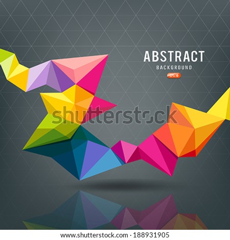 Abstract Geometric colorful modern design background, vector illustration - stock vector