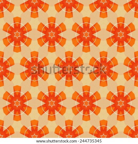 Abstract geometric colorful ornamental pattern. Vector EPS10.