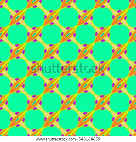 Abstract geometric colorful seamless pattern for background. Decorative backdrop can be used for wallpaper, pattern fills, web page background, surface textures. Old vintage retro energy pattern.