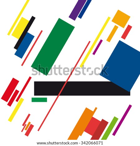 abstract geometric colorful vector background - stock vector