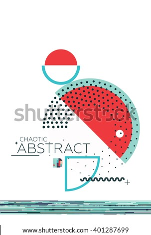 Abstract geometric composition simple shapes Style Abstract art Suprematism Constructivism Futurism Minimalism. The design element is isolated suitable for prints posters magazine covers - stock vector
