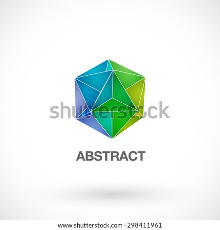 Abstract geometric crystal logo for your company - stock vector