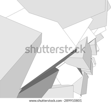 abstract geometric 3d background