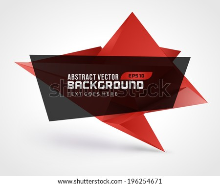 Abstract geometric 3d shape vector background - stock vector
