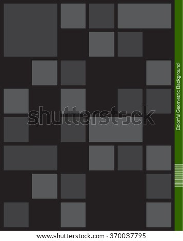 Abstract geometric dark Background. - stock vector