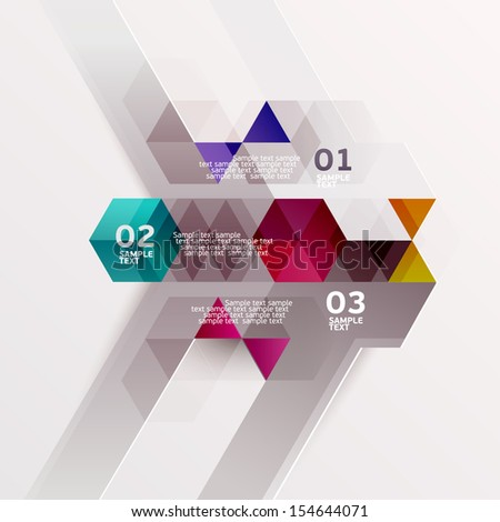 Abstract geometric design. - stock vector