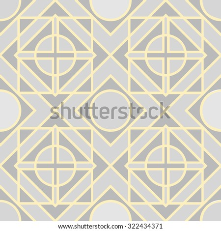 Abstract geometric design monochrome version - vector seamless pattern - stock vector