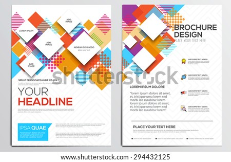 Abstract geometric design template layout for magazine brochure flyer booklet cover annual report in A4 size.Abstract Modern Backgrounds, Infographic Concept. Vector Illustration  - stock vector