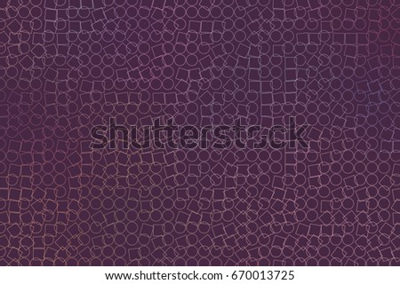 Abstract geometric ellipse & square box pattern, colorful & artistic for graphic design, catalog, textile or texture printing & background. Style of mosaic or tile. Vector illustration graphic.