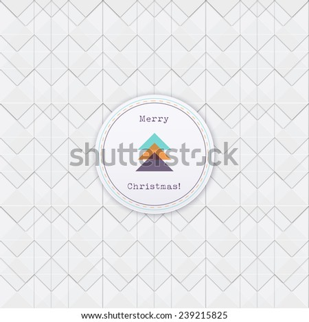 Abstract geometric EPS10 vector background with badge for web page wallpaper, banner, brochure cover design, holiday greeting - stock vector
