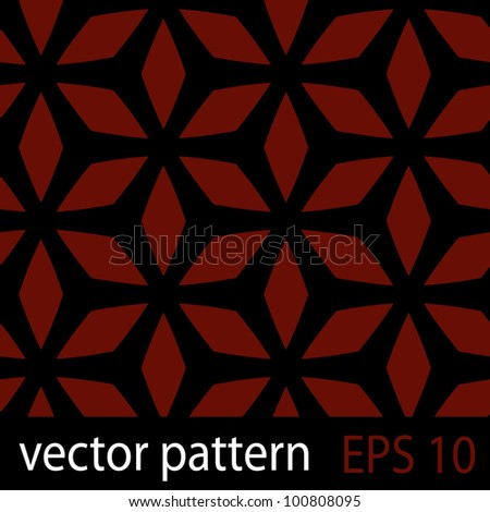 Abstract geometric floral pattern. Seamless vector background - stock vector