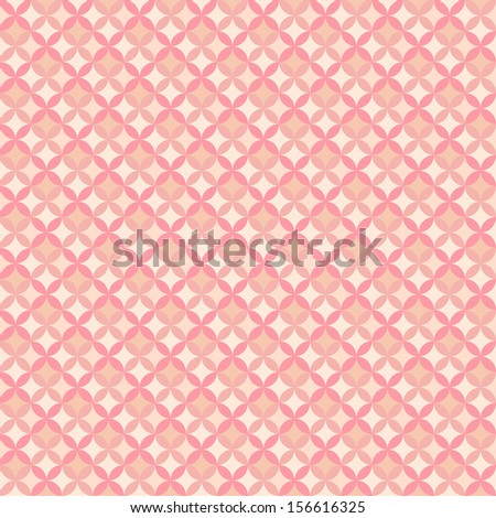 Abstract geometric floral pattern wallpaper. Vector illustration for romantic feminine design. Pastel pink color. Seamless background. - stock vector