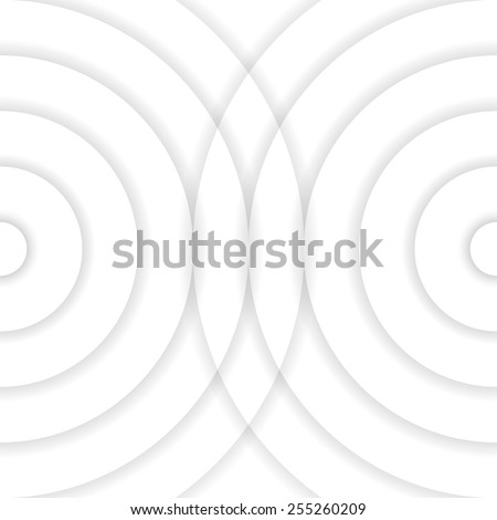 Abstract geometric grey circle background with shadows, made of set of rings, vector illustration, eps10 - stock vector