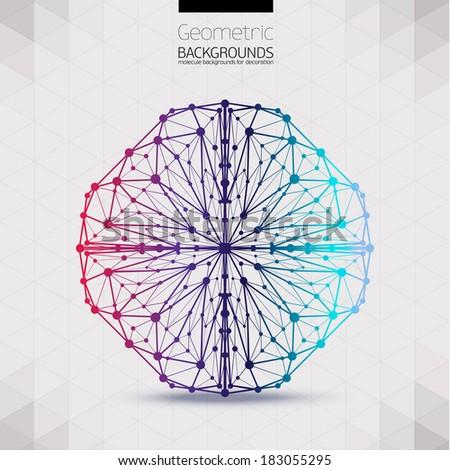 Abstract geometric lattice. - stock vector