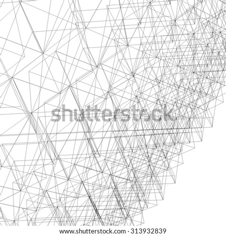 abstract geometric linear background - stock vector