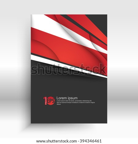 abstract geometric lines and wave elements corporate design. eps10 vector - stock vector
