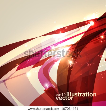 Abstract geometric lines, shiny space, modern  vector background eps10