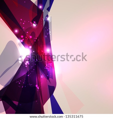 Abstract geometric lines, shiny space, modern  vector background eps10 - stock vector