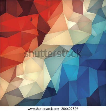 Abstract geometric low poly background. - stock vector