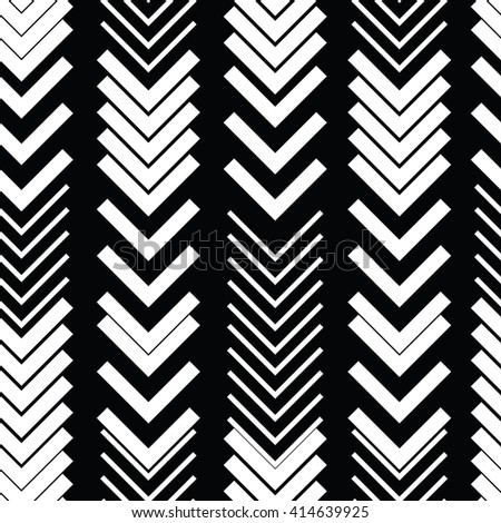 Abstract geometric minimal seamless pattern. Black and white style pattern with chaotic shapes and lines. Vector Monochrome Background