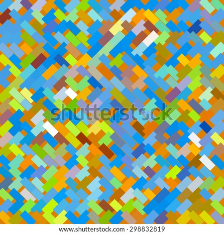 Abstract geometric mosaic consisting of rectangular elements of different colors