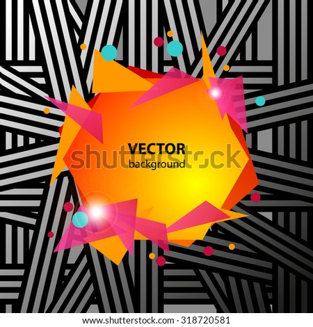 Abstract geometric music party banner vector illustration - stock vector