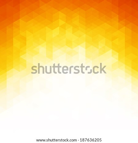 Abstract geometric orange Background, Vector Illustration. EPS 10 - stock vector
