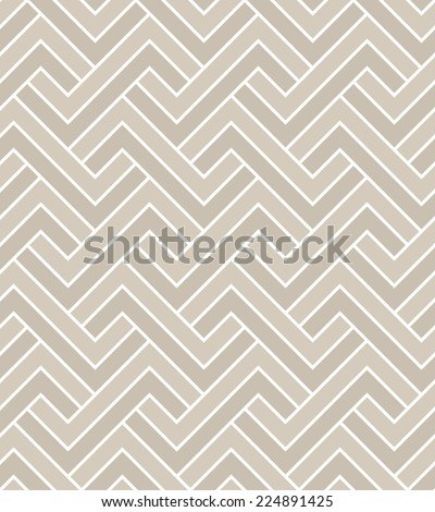 Abstract geometric pattern. A seamless vector background. Beige and white texture. - stock vector