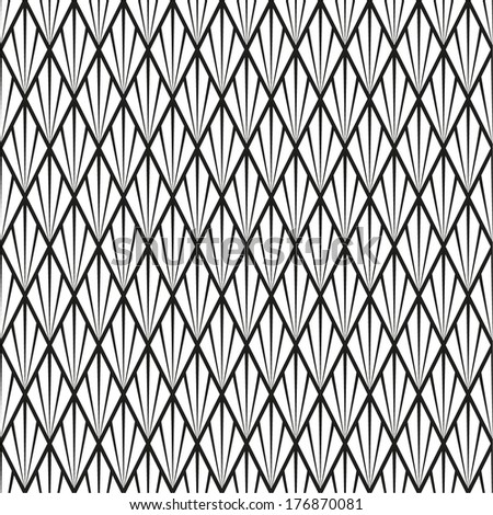Abstract geometric pattern. A seamless vector background. Black and white texture. - stock vector