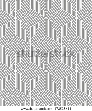 Abstract geometric pattern. A seamless vector background.Gray and white texture.