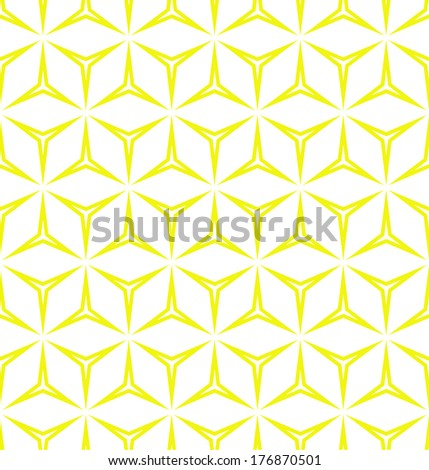Abstract geometric pattern. A seamless vector background. Yellow and white texture. - stock vector