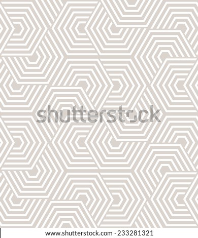 Abstract geometric pattern by lines and hexagons. A seamless vector background. - stock vector