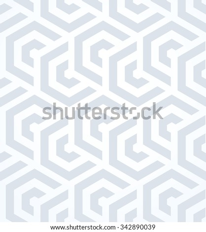 Abstract geometric pattern by lines and hexagons. A seamless vector background