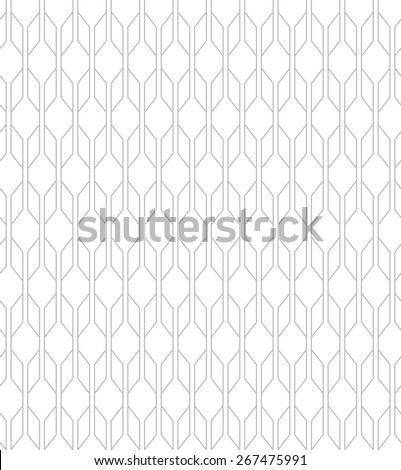 Abstract geometric pattern by lines, diamonds. A seamless vector background. Light texture - stock vector