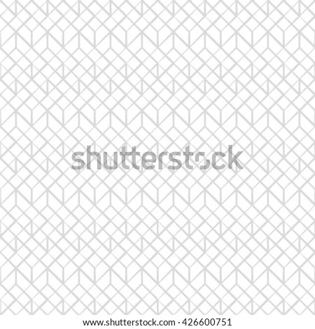 Abstract geometric pattern by lines, rhombuses. A seamless vector background. White and gray texture - stock vector
