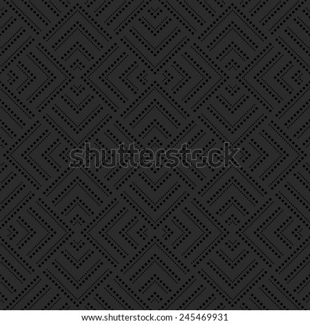 Abstract geometric pattern by squares, dots. A seamless vector background. Black texture. - stock vector