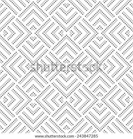 Abstract geometric pattern by squares, dots. A seamless vector background. Gray and white texture. - stock vector