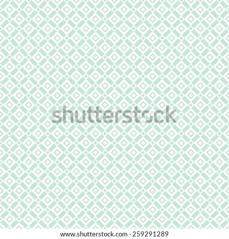 Abstract geometric pattern by squares. Repeating seamless vector background. Blue and white texture - stock vector