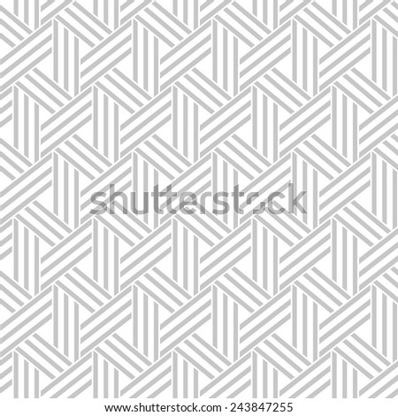 Abstract geometric pattern by stripes, lines. A seamless vector background. Gray and white texture. - stock vector