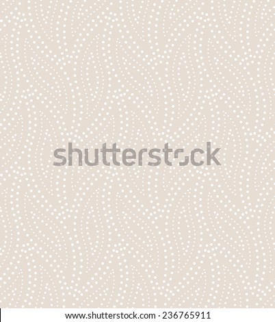 Abstract geometric pattern by the points. A seamless vector background. Beige and white texture. - stock vector