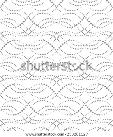 Abstract geometric pattern by the points. A seamless vector background. Gray and white texture. - stock vector