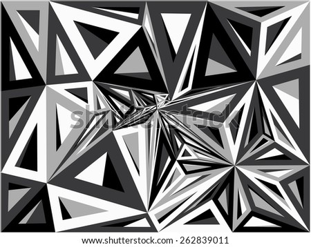 Abstract geometric pattern consisting of colored triangles