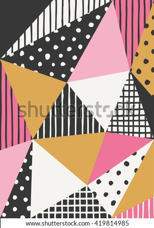 Abstract geometric pattern design. - stock vector