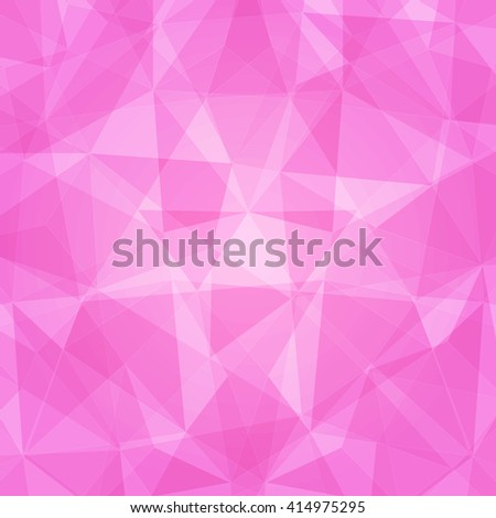 Abstract geometric pattern. Geometric pattern with transparency. Dark and light pink mosaic geometric pattern. Modern geometric pattern. - stock vector