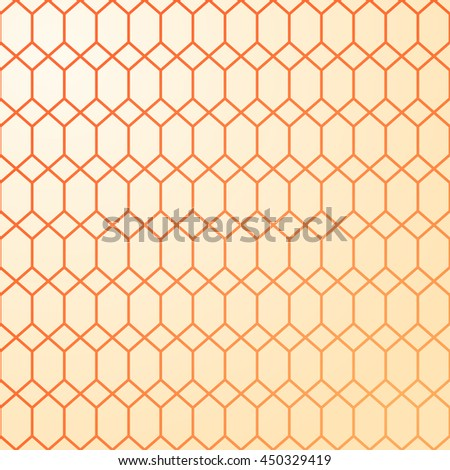 Abstract geometric pattern. Mesh of interwoven figures. Warm colors - yellow and orange. Repetitive decorative pattern. Covers, posters and wrapper design. - stock vector