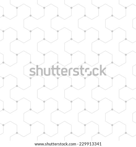 Abstract geometric pattern of the points,lines. A seamless vector background. Gray and white texture.  - stock vector
